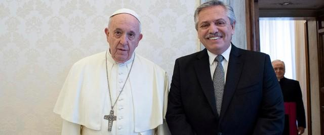 pope francis president argentina